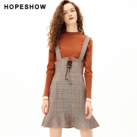 活动到手价143丨红袖法式超仙背带裙气质格子背心裙
