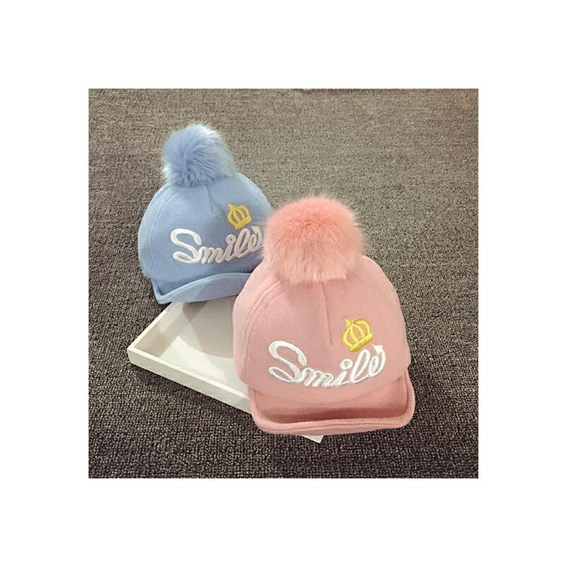 儿童鸭舌帽男女宝宝帽子1-2岁秋冬保暖大毛球婴儿帽子6-12个月潮 发货周期:一般在付款后2-90天左右发货,具体发货时间请以与客服协商的时间为准