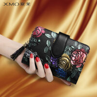 女士钱包2020新款短款牛皮夹子时尚个性女式卡包一体包折叠小钱夹