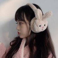 耳罩保暖女冬季韩版ins可爱女童兔耳朵套护耳毛绒简约耳捂耳包.