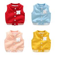 女宝宝春秋季3个月1岁男宝宝婴儿童装马甲秋装秋冬装冬季加厚加绒