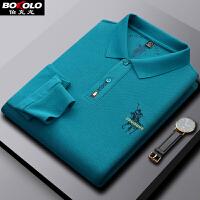 伯克龙 男士短袖POLO衫纯棉款 男装青中年夏季商务休闲修身翻领保罗衫T恤A88099