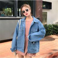 牛仔外套春季女2018新款韩版原宿BF宽松学生欧韩嘻哈短款上衣夹克