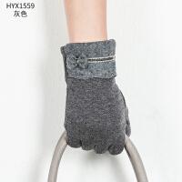 新品时尚男士触屏手套保暖棉韩版户外骑车分指加厚手套 可礼品卡支付
