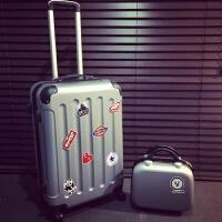 七夕礼物个性拉杆箱男士旅行箱28韩版箱子行李箱男潮学生密码箱皮箱女 子母箱