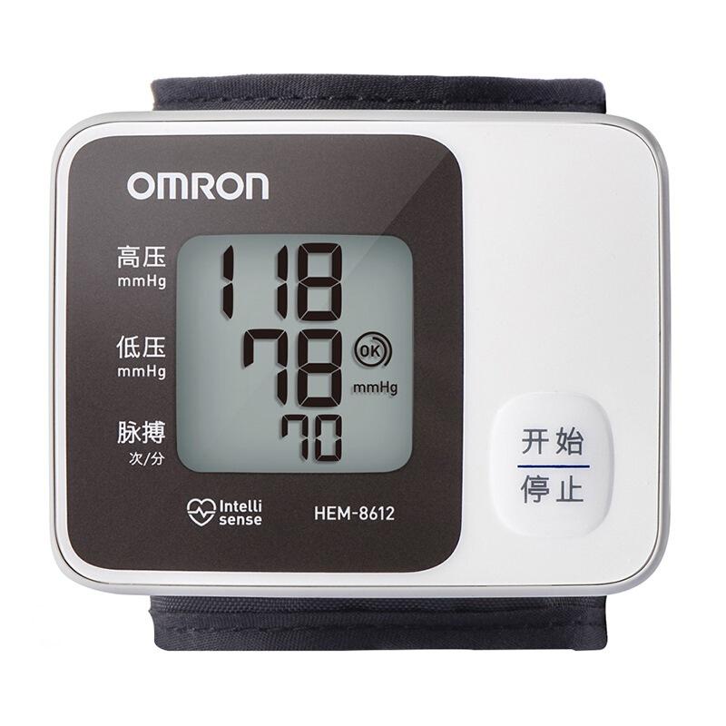[当当自营]欧姆龙(OMRON)电子血压计 HEM-8612智能加压,大屏显示,一键操作,小巧便携