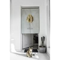 设计简约植物门帘布艺隔断客厅卧室卫生间 85cm*120cm 附送杆子
