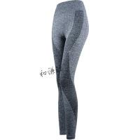 夏高腰弹力紧身运动长裤女速干健身裤跑步裤瑜伽裤训练裤修身显瘦