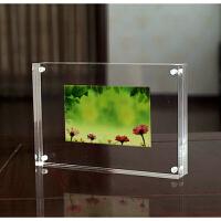 亚克力相框 磁铁双面水晶透明3.5 5 6 7 8 10 12寸A4A5相架摆台