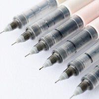 白雪直液式走珠笔 针管式可换墨囊中性笔 学生用0.5mm水笔6支装