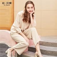 卫衣套装拉贝缇2020新款夏季女装阔腿裤小香风早秋运动两件套洋气