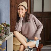 [2.5折价68.9元]唐狮2019秋冬新款女士毛衣针织衫学院风时尚日系套头