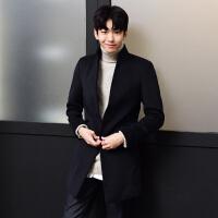 羊毛呢大衣男中长款修身青年学生羊绒大衣风衣男款外套冬季韩版潮