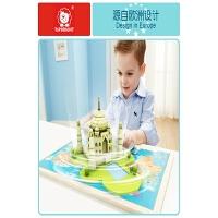 1--7岁男孩儿童宝宝玩具益智幼儿早教木质3d立体拼图