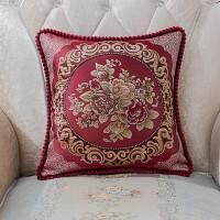 皮沙发靠垫抱枕套不含芯客厅欧式正方形靠枕床头北欧家用靠背含芯J D-1 国色天香
