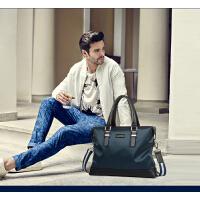 时尚男士手提包横款男包尼龙帆布包单肩电脑包韩版潮休闲包 支持礼品卡支付