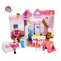 乐吉儿甜蜜家园甜甜屋芭比娃娃套装大礼盒2014女孩公主玩具