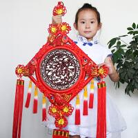 中国结桃木福字客厅玄关墙壁挂件饰家居墙上乔迁礼品礼物搬家开业