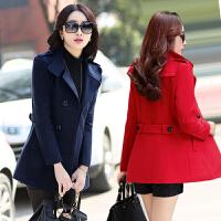 2017新款韩版矮小个子女装150cm显高新小香风短款气质毛呢外套女