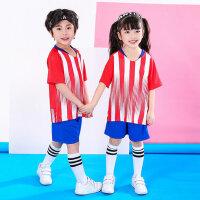 儿童足球服套装男孩宝蓝色球服小学生训练队服印号女童球衣巴黎队