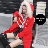 七格格反季棉衣女2019新款韩版宽松学生棉袄面包服中长款