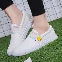 匡王2017秋季新款女鞋帆布鞋女韩版潮一脚蹬懒人鞋布鞋女学生平底鞋子