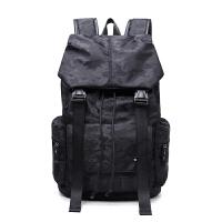 徒步包中学生双肩双肩包旅行包韩版男士背包电脑包书包休闲登山双肩包黑色书包徒步休闲 黑色