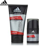 阿迪达斯 Adidas男士酷能醒肤套装(多重焕活洁面乳100ml+男士多重焕活�ㄠ�50g)