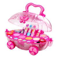 迪士尼儿童化妆品公主彩妆盒套装指甲油车小女童女孩玩具口红无毒