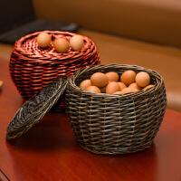 收纳筐藤编收纳篮柳编购物篮子鸡蛋篮置物筐干果零食提篮