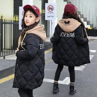 女童棉衣冬装潮洋气中大儿童中长款外套冬季