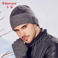 kenmont冬天男士帽子韩版潮保暖毛线帽护耳帽套头帽针织帽冬帽1752