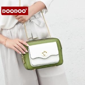 【支持礼品卡】doodoo包包女2018新款斜挎包女士链条包韩版小方包百搭时尚女包潮