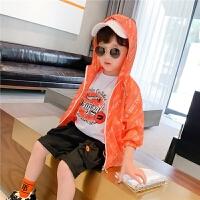 【2件2折】左西童装男童防晒衣儿童外套薄款透气男宝中大童夏季2021新款韩版