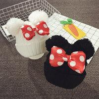 女童帽子秋冬儿童毛线帽男宝宝帽子1-2岁韩版潮保暖护耳帽套头帽