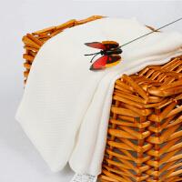 口水巾婴儿洗脸毛巾宝宝方巾小手帕4条