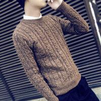 韩观冬季毛衣男韩版针织衫学生圆领修身套头打底衫个性男士秋季线衣潮