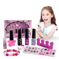 hellokitty凯蒂猫儿童化妆品女生彩妆指甲油组合套装女孩玩具diy化妆盒