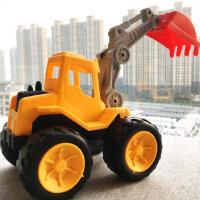 儿童挖掘机惯性挖机工程车模型大吊车挖土推土小汽车男孩玩具套装