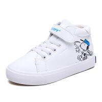 史努比童鞋冬季男童鞋加厚保暖儿童运动鞋男宝宝棉鞋
