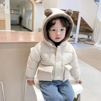 冬装新款韩版儿童连帽棉衣宝宝洋气外套