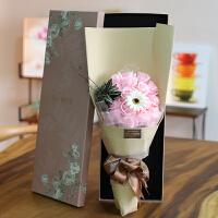 玫瑰香皂花束礼盒教师节礼物女老师生日送女友肥皂花创意礼物
