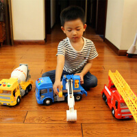 音乐车惯性车工程车大卡车模型儿童玩具车大号惯性车挖土机挖掘机