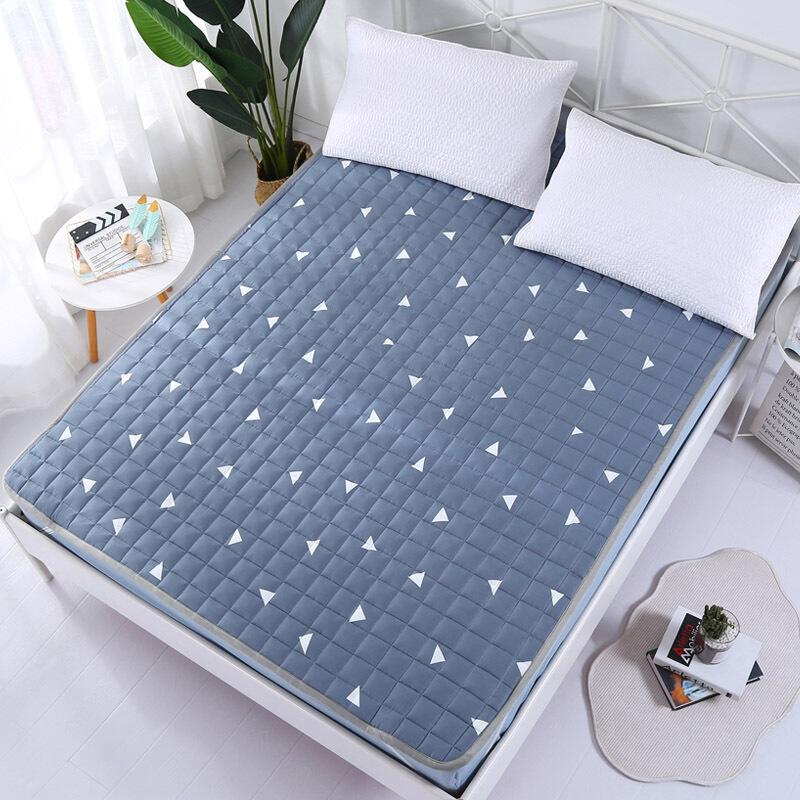 床褥子垫被薄款夏天床垫铺床的垫子棉1.8m床可水洗棉垫背