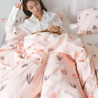 家纺4件套床上用品棉棉四件套小清新被套1.8m床单双人三件套