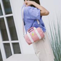 小包包女新款韩版百搭小清新少女迷你帆布单肩斜挎手提包