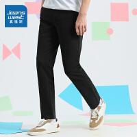 真维斯男装直筒休闲裤 2021春装新款 弹力纯色休闲青年学生长裤子