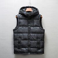 秋冬季羽�q棉�R甲男�b�n版修身外套男士加厚潮流背心男青年����