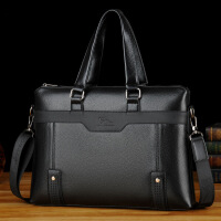 袋鼠男士手提包商务公文包电脑包单肩斜挎包背包软皮手拎包休闲
