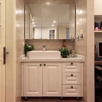 卫浴橡木浴室柜组合大理石现代落地洗漱台卫生间洗脸盆镜柜